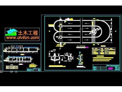 万吨carrousel氧化沟工艺设计图