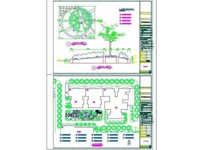 西安明德广厦环境景观工程施工图