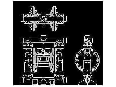气动隔膜泵三视图